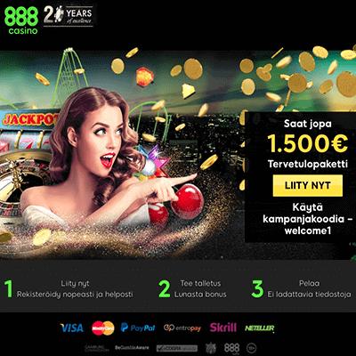 888 Casino Ilmaiskierrosta
