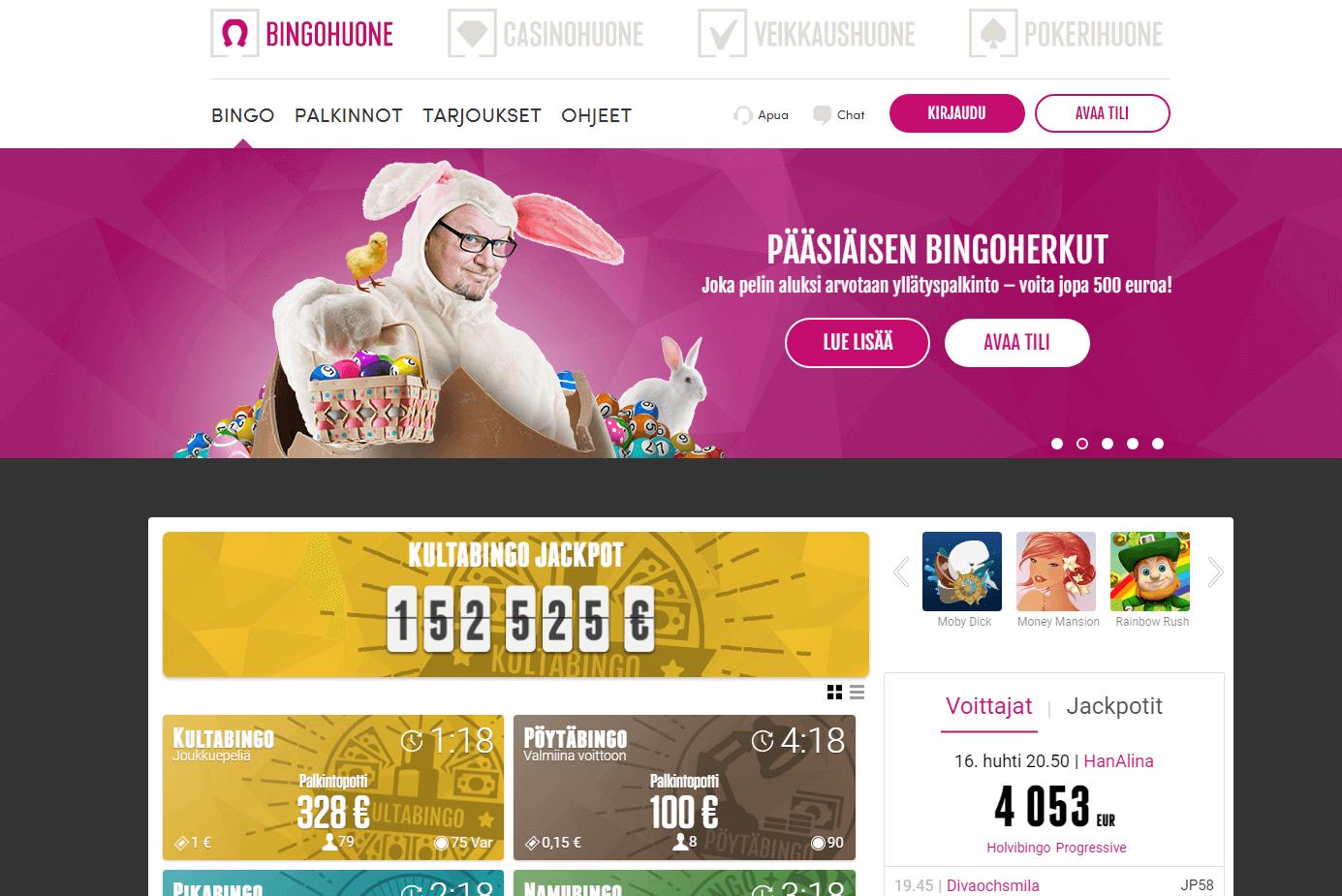 pääsiäinen bingohuone
