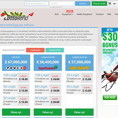 Lottosend casino bonus