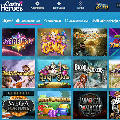 Casino Heroes Ilmaiskierrosta