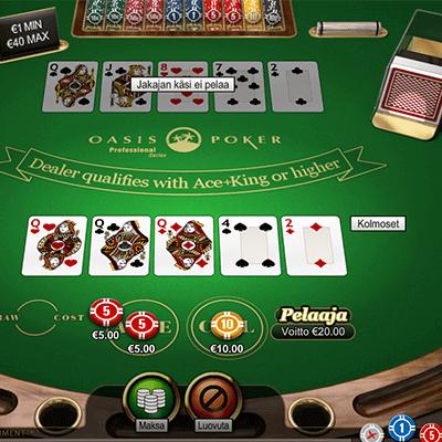 Oasis Pokeri ilmaiseksi