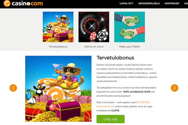 Casino.com tervetulobonus