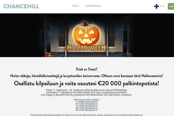 Chancehill halloween kampanja
