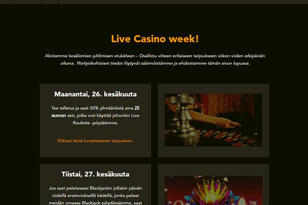 Codeta live casino viikko