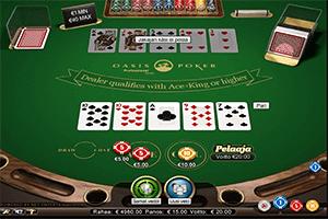 Oasis Pokeri sanasto