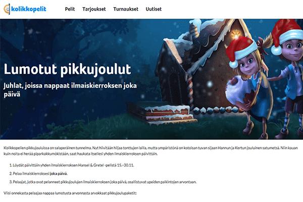 Pikkujoulut Kolikkopelit.comissa