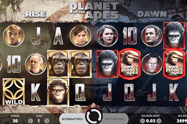 Planet of the Apes ilmaiskierrokset