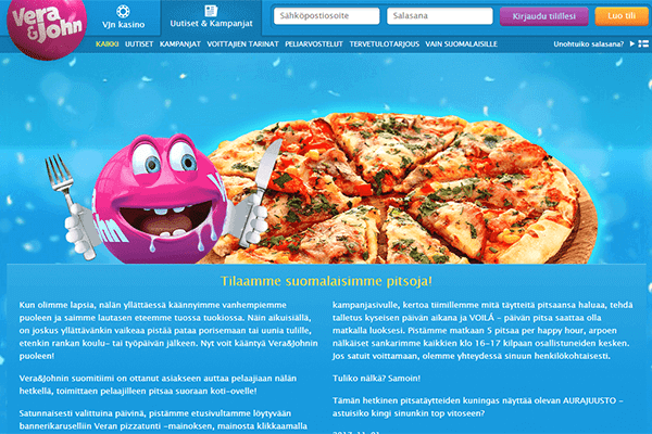 Vera & John pizzakampanja
