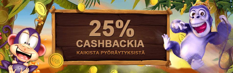 Cashback bonusta Videoslots