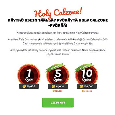 Casino Calzone ilmaiskierrokset