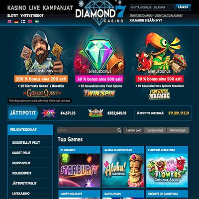 Diamond7 casino bonus