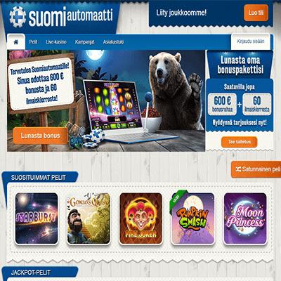 Suomiautomaatti casino bonus