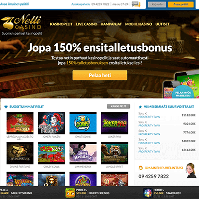 Netticasino.com bonus