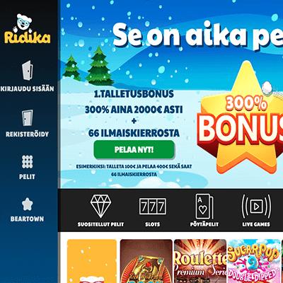 Ridika casino bonus