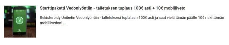 Unibet_starttipaketti_vedonlyontiin