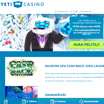 Yeti Casino ilmaiskierrokset