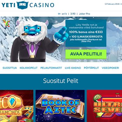 Yeti Casino bonus