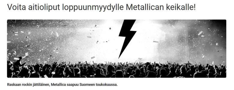 Unibet_liput_Metallican_konserttiin