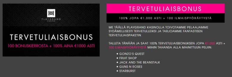 Playgrand_Casino_tervetuliaistarjous_kesä2018