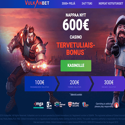 VulkanBet casino bonus