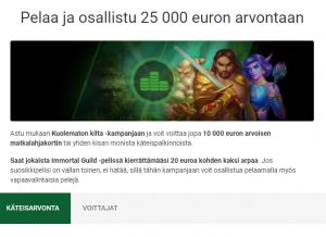 Unibet 10 000 euron arvoinen matkalahjakortti
