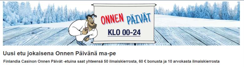 Finlandia Casino Onnenpäivät