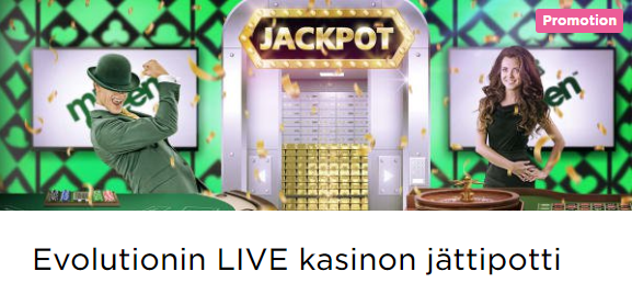 Mr Green Evolutionin LIVE kasinon jättipotti