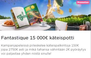 Mr Green Fantastique 15 000 euroa