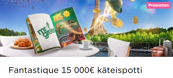 Mr Green Fantastique 15 000 euron potti