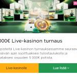 Mr Green Livekasinon 5000 euroa