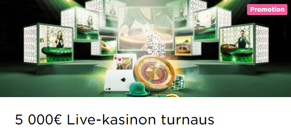 Mr Green Livekasinon 5000 euron potti