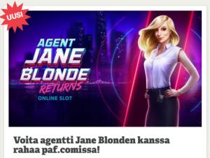 Paf Agent Jane ja 6x500 euroa