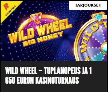 Rizk - tuplanopeus ja 1650 euron turnaus