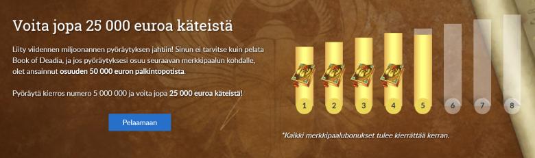 Suomiarvat - jopa 25 000 euron käteisvoitto