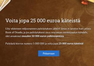 Suomiarvat - jopa 25 000 euron voitto