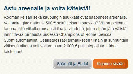 Suomiautomaatti - Astu Areenalle ja voita käteistä