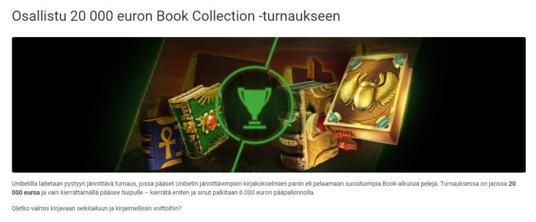 Unibetin Book- alkuisten pelien 20 000 euron kisa