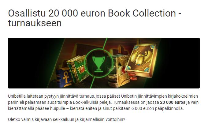 Unibetin Book- alkuisten pelien 20 000 euron turnaus