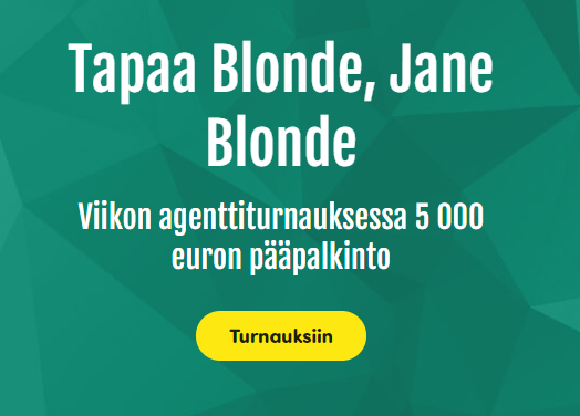 Casinohuone - Agent Jane Blonde Returns ja 30 000 euroa