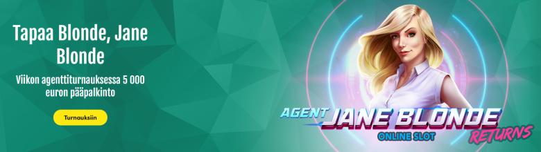 Casinohuoneen uusi Agent Jane Blonde Returns -peli ja 30 000 euroa