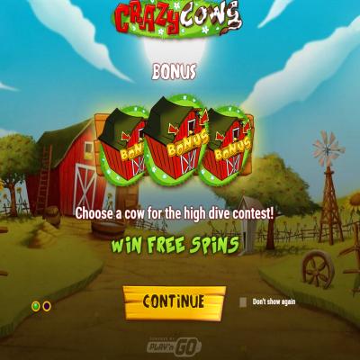 Crazy Cows kolikkopeli