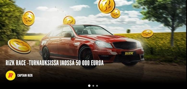 Rizk Race - 50 000 euroa