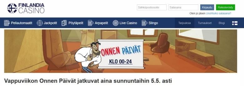 Finlandia Casinon vappu jatkuu vielä