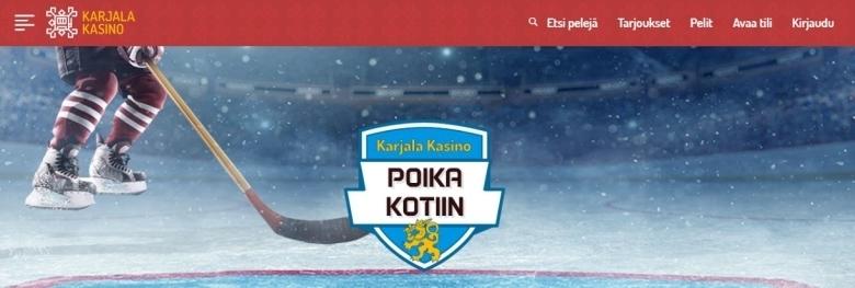 Karjala Kasino - Jääkiekon MM -kisat ja 5 ilmaiskierrosta Suomen maalista