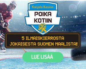 Karjala Kasino - Jääkiekon MM -kisat ja 5 ilmaiskierrosta maalista