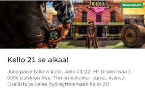 Mr Greenin 1000 euron kahakat