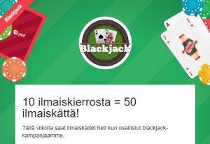 Paf Casino - Blackjack -ilmaiskierroksia heti