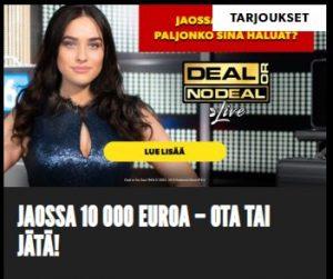 Rizk - Ota tai Jätä 10 000 euroa -kampanja