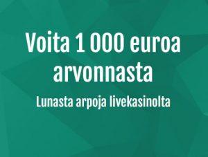 Voita Casinohuoneen 1000 euron arvonnasta