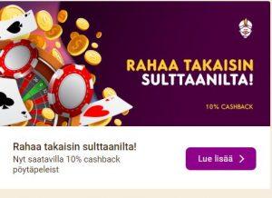 Wild Sultan Cashbackbonus